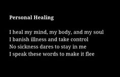 personal healing spell