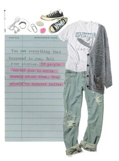 """Write what you know"" by septembrie ❤ liked on Polyvore featuring moda, Chicnova Fashion, Iosselliani, Converse, Clips, women's clothing, women, female, woman e misses"