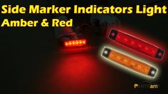 "3.8"" Truck Bus Boat Trailer Amber Red Side Marker Indicators Light Lamp ..."