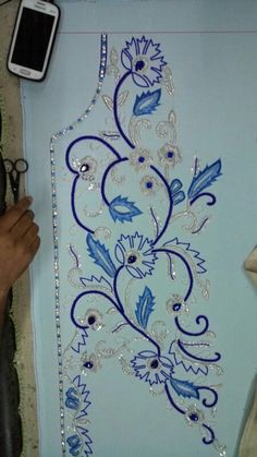 So called the original sworski stone with silver work caftaan