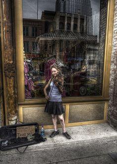 street musician in nashville