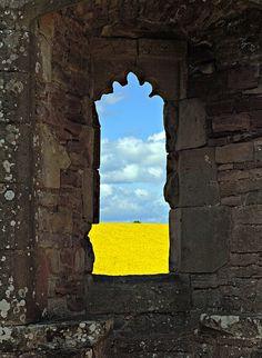 A window with a view -Raglan Castle, Raglan, Monmouthshire, Wales Copyright: Martin Jonsson Niedziolka