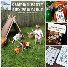 Backyard Birthday Party with Photo Prints