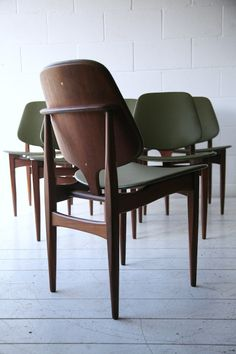 Anonymous; Teak Dining Chairs by Elliots of Newbury, 1960s.