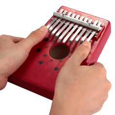 COSE 2015 Venta Caliente Rojo 10 Teclas de Piano de Pulgar Kalimba Tradicional Instrumento Musical Portátil Gran Regalo Envío de La Gota