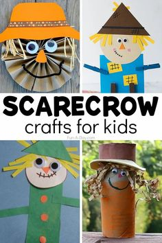 Fall crafts for kids that are scarecrow-themed! There are so many fun ways to make a scarecrow. You're sure to find the perfect fit for your preschool or kindergarten classroom, or homeschool! Fall Preschool Activities, Early Learning Activities, Art Activities, Easy Arts And Crafts, Fall Crafts For Kids, Toddler Crafts, Make A Scarecrow, Scarecrow Crafts, Farm Theme