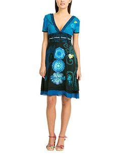 Desigual - Berlin Rep, Svasato da donna,  manica corta, blu(blau (marino 5001)), taglia produttore XXL Desigual  http://ebay.to/1Gku8uN