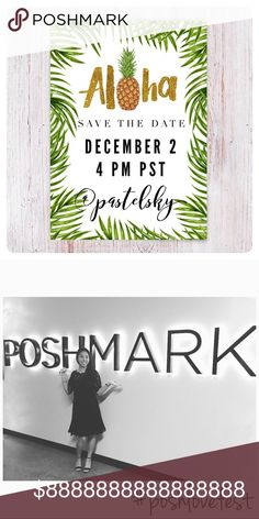 party day!!📣💁🏻 hi posh friends!  happy to announce that i'll be hosting another fun 🎉 posh party!   date: december 2 time: 2 pm HST | 4 pm PST theme: best in gifts!  i'll be considering host picks from compliant closets and those who share the same love for posh! ❤️   let's be friends on IG: pastelsky_  😊 if I'm not already following you, please comment with your IG name and let me know you are following me.   happy poshing! Other