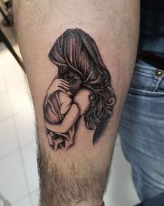 Cute mother and son tattoo for mothers day