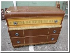 vintage waterfall chest