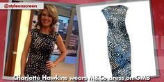 Where did Charlotte Hawkins get her blue printed dress from on Good Morning Britain - Style on Screen Charlotte Hawkins, Good Morning Britain, Printed, Blue, Dresses, Style, Fashion, Vestidos, Swag
