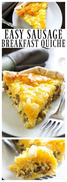 10 Most Misleading Foods That We Imagined Were Being Nutritious! Easy Sausage Quiche - Simple Quiche Recipe That Is Insanely Delicious. Incredible For Breakfast, Brunch Or Even Dinner. What's For Breakfast, Sausage Breakfast, Breakfast Dishes, Healthy Breakfast Recipes, Breakfast Tacos, Morning Breakfast, Easy Breakfast Quiche Recipe, Healthy Quiche, Hashbrown Breakfast