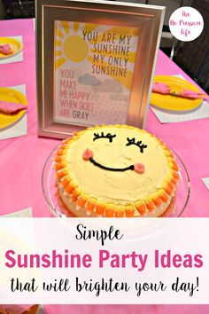 Such a cute You Are My Sunshine party! These easy sunshine party ideas include some to buy and others to DIY, and great for a first birthday party or baby shower. Plus get free printable sunshine party thank-you notes! 1st Birthday Girls, Baby Birthday, First Birthday Parties, Birthday Party Themes, First Birthdays, Birthday Ideas, Birthday Decorations, Birthday Photos, Sunshine Birthday Parties