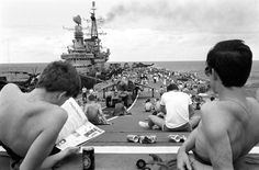 From Britain to the coast of Argentina - servicemen on their way to fight in the Falklands war (1982)