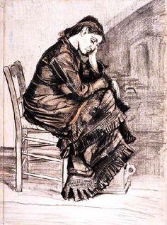 Vincent Van Gogh - Post Impressionism - Sien - La Haye