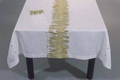 Tablecloth (54 x 70 in) & Dinner napkins Set - 100% linen - Hand Painted. $268.00, via Etsy.