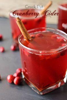 Crock Pot Cranberry Cider More