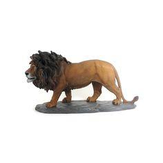 Leão Largura x Altura x Profundidade: 28 x 15 x 7,5 cm Peso: 810 g Material: resina Acabamento: colorido Origem: Ásia