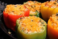 Caribbean style stuffed peppers. Click http://caribbeanpot.com/the-ultimate-grilled-stuffed-peppers/ for the recipe and video demo