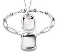 Love this!!!!! Tiffany and Co Outlet Square Chain Silver Sets