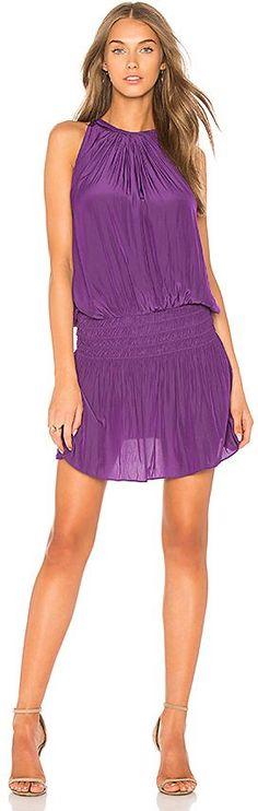 2018 pantone color of the year, pantone color of the year 2018, RAMY BROOK Paris Dress in Purple, pantone ultra violet, bright purple, dark purple, violet
