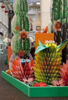 a colourful origami oasis.
