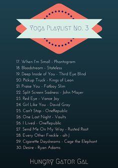 Yoga Playlist No. 3 from Hungry Gator Gal (Spotify playlist)