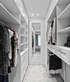 White wardrobe ideas bedroom closet design, walk in closet design, master. Bedroom Closet Storage, Bedroom Closet Design, Master Bedroom Closet, Master Suite, Bedroom Boys, Trendy Bedroom, Bedrooms, Walking Closet, Walking Wardrobe Ideas