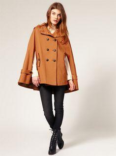 brown coat cape Fall Fashion Trend 2011: The Cape Crusader