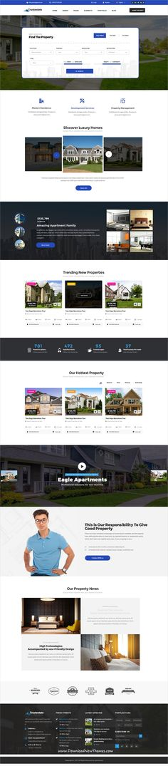 Trustestate is clean and modern design PSD #template for #realestate and #property selling and #listing website with 21+ layered PSD files to live preview & download click on Visit