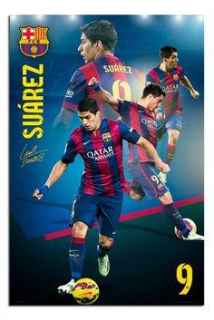 FC Barcelona Louis Suarez Collage Poster