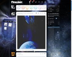 this is my new Tumblr layout for my dash!  Epic!!  Complete with Sonic Screwdriver