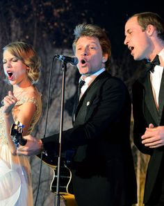 "Taylor Swift, Prince William, Bon Jovi Sing ""Livin' on a Prayer"" -- Watch the Amazing Performance!"