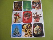 vintage  80's Plus Mark Christmas sticker sheet (free ship $20 min)