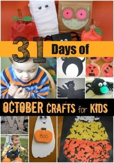 Mamas Like Me: 31 Days of October Crafts - #halloween #pumpkins #fall #preschool by freida