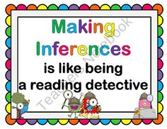 FREE! Inference Mini-Posters, Sentence Starters and Worksheets from AMC Looking From Third to Fourth on TeachersNotebook.com (13 pages)  - Inferencing posters, sentence starters and worksheets.