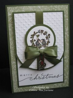 Paper Pleats and Ribbon Roses: Wreath Love Christmas Card