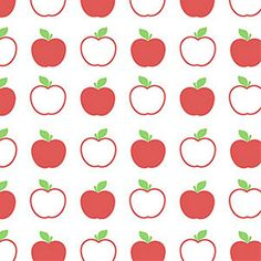 idea-framing remnants of wallpaper-this would be fun in kids room! Bright and Cheerful Red, White, Green Apples Kitchen Wallpaper - Country, Abstract, Graphic, Retro, Fruit - By The Yard - KC28525 so