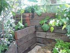Love the use of space and railroad ties