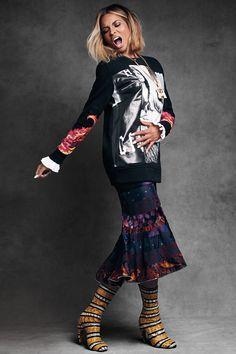 Ciara wears Givenchy by Riccardo Tisci:  shirt, sweatshirt, skirt & boots