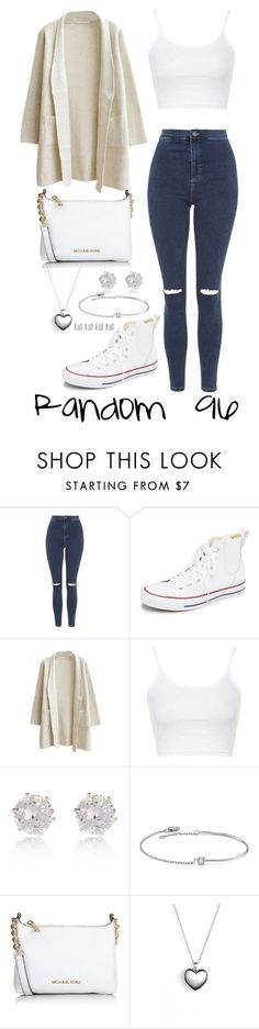 """Random 96"" by megan-walz21 ❤ liked on Polyvore featuring Topshop, Converse, River Island, Amorium, Michael Kors, Pandora and Maison Margiela"