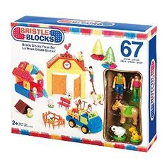 Amazon.com: Bristle Block Farm Set (67 Pieces): Toys & Games