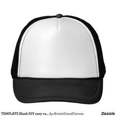 TEMPLATE Blank DIY easy customize add TEXT PHOTO Trucker Hat