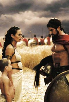 300 King Leonidas (Gerard Butler) and Queen Gorgo (Lena Headey) Gerard Butler, 300 Movie, Love Movie, Gym Memes, Gym Humor, Fitness Humour, Fitness Memes, Funny Fitness, Workout Humor