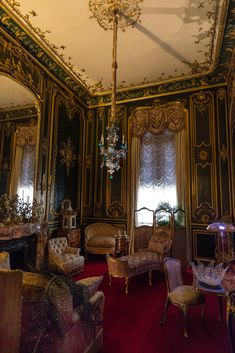 One of many opulently decorated rooms inside the estate. The property was recently handed over to the National Trust, which now organizes tours of the home. Victorian Rooms, Victorian Parlor, Victorian Interiors, French Interiors, Royal Room, English Manor Houses, Classic Interior, Gothic Interior, English Decor