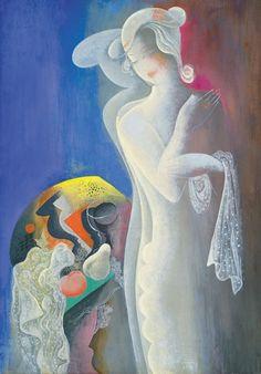 Bela Kadar - Art Deco lady still life