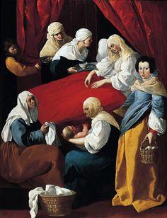 FRANCISCO DE ZURBARAN EL NACIMIENTO DE LA VIRGEN MARIA 1625-30