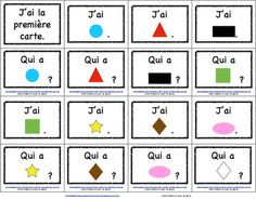 $ Formes et Couleurs - J'ai... Qui a? + Word Wall + Count + bookmarks