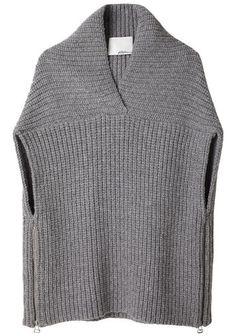 3.1 Phillip Lim | Shawl Sweater Vest | La Garçonne