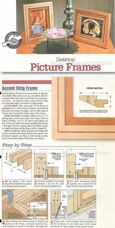 Photo Frame Making - Woodworking Plans and Projects | WoodArchivist.com
